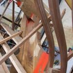 Construcion voilier St Michel en Sappeli et Chêne par Bourgoin Bois