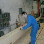 mât de beaupré en pin Douglas par Bourgoin bois